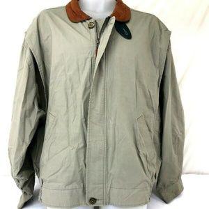 c1d50b66914 Vintage Gant sz XL Men's Windbreaker Leather Colla